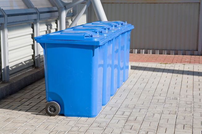 Recycle bins for pickup
